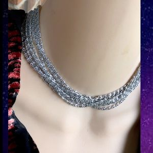 Vintage Sarah Coventry 8 Strand choker necklace